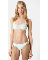Topshop Mesh Panel Bikini Set - Lyst