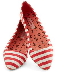 East Lion Corp/Qupid - Like It Or Nautical Flat in Red - Lyst