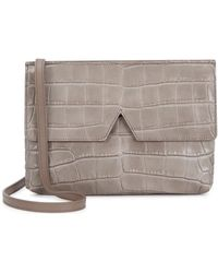 Vince - Signature Baby Crocodile-embossed Leather Cross-body Bag - Lyst