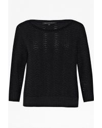 French Connection Wonky Wave Knitted Jumper - Lyst