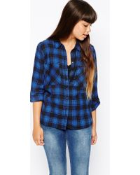 Brave Soul Checked Shirt with Front Pockets - Lyst