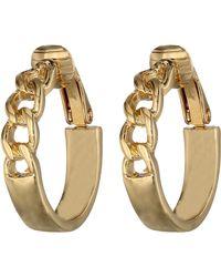 Lauren by Ralph Lauren Bar Harbor Small Frozen Chain Clip Hoop Earrings - Lyst