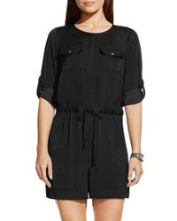 Vince Camuto - Roll Sleeve Romper - Lyst