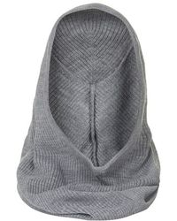 Topshop Gray Hooded Snood - Lyst