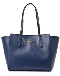 Gucci Blue Swing Small Tote Bag - Lyst