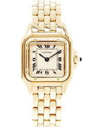 CMT Fine Watch And Jewelry Advisors - Vintage Cartier 18k Yellow Gold Panthere Watch From Cmt - Lyst