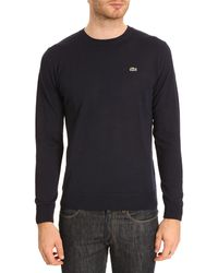 Lacoste Navy Sweater Crocodile On Chest - Lyst