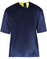 Thomas Tait - Box-fit Silk-satin T-shirt - Lyst