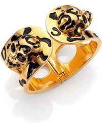 Alexander McQueen Leopard Skull Bracelet - Lyst