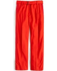 J.Crew | Cropped Wide-leg Trouser With Tux Stripe | Lyst