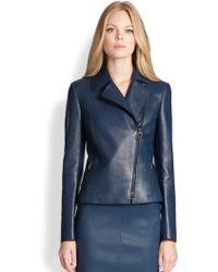 Akris Punto Perforated Leather Moto Jacket - Lyst