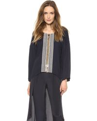 Sass & Bide - On The Spot Embellished Blouse French Navy - Lyst