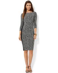 Lauren by Ralph Lauren Three-Quarter-Sleeve Printed Dress - Lyst