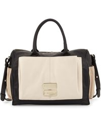 See By Chloé Nellie Two-Tone Leather Shoulder Bag - Lyst