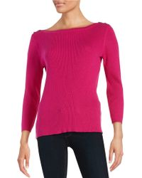 Anne Klein | Ribbed Pullover | Lyst
