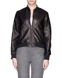 Rag & Bone Leather Bomber Jacket - Lyst