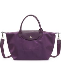 Longchamp Le Pliage Neo Small Handbag with Strap Bilberry - Lyst