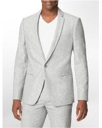 Calvin Klein White Label Slim Fit Wool Suit Jacket - Lyst