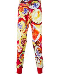 Etro Abstract Food Print Track Pants - Lyst