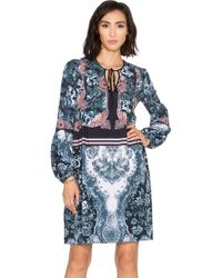 Clover Canyon - Winter Wallpaper Printed Dress - Lyst