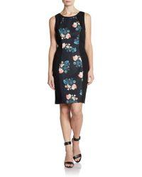 Sachin & Babi Dulce Floral Scuba Dress - Lyst