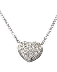 Swarovski Heart-Shaped Crystal Pav?? Pendant Necklace - Lyst