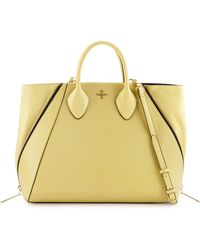 Pour La Victoire Yves Snakeembossed Leather Tote Bag - Lyst