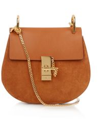 Chloé - Drew Small Leather And Suede Cross-Body Bag - Lyst