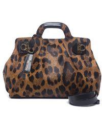 Ferragamo Preowned Leopard Print Pony Hair W Bag - Lyst
