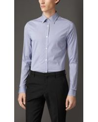 Burberry Slim Fit Stretch Cotton Shirt - Lyst