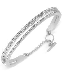 Vince Camuto - Crystal Pave Two-layer Bangle Bracelet - Lyst