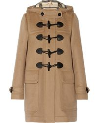 Burberry Brit - Hooded Wool Duffle Coat - Lyst