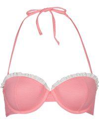 Topshop Box Pleat Bikini Top - Lyst