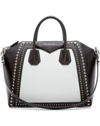 Givenchy Black Medium Studded Antigona Bag - Lyst