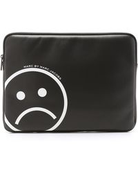 """Marc By Marc Jacobs - Neoprene Unsmiley Face 13"""" Computer Case - Star White - Lyst"""