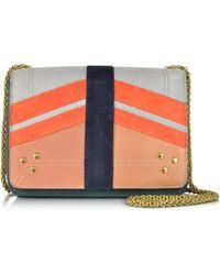 Jérôme Dreyfuss Eliot Multicolor Patchwork Leather And Suede Shoulder Bag - Lyst