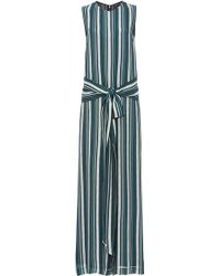 Sally Lapointe - Striped Georgette Jumpsuit - Lyst