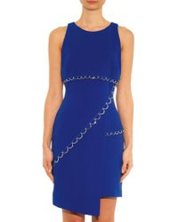 Mugler Asymmetric-Hem Crepe Dress - Lyst