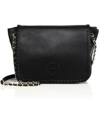 Tory Burch | Marion Small Leather Flap Shoulder Bag | Lyst