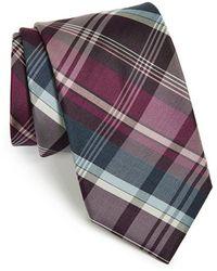 Michael Kors - Plaid Silk & Cotton Tie - Lyst