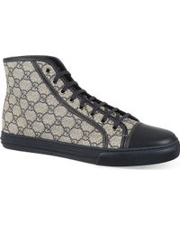 Gucci California Hi Top Trainers Navy - Lyst