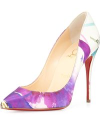 Christian Louboutin Pifalle Follies Satin Red Sole Pump - Lyst