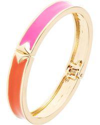 Kensie Colorblocked Enamel Hinge Bracelet - Lyst