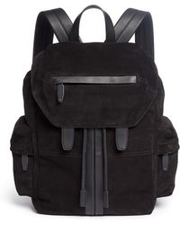 Alexander Wang - 'marti' Leather Trim Suede Backpack - Lyst