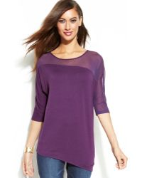 Inc International Concepts Asymmetrical Illusion Top - Lyst