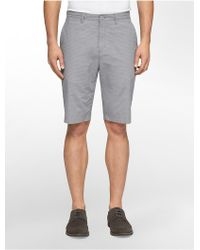 Calvin Klein White Label Classic Fit Micro Check Shorts - Lyst