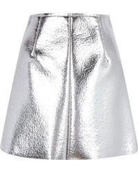 MSGM Metallic Skin Skirt - Lyst