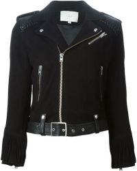 IRO Black Biker Jacket - Lyst