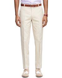 Brooks Brothers Milano Fit Supima® Cotton Poplin Pants - Lyst