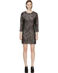 Jay Ahr Black and Silver Metallic Tweed Dress - Lyst